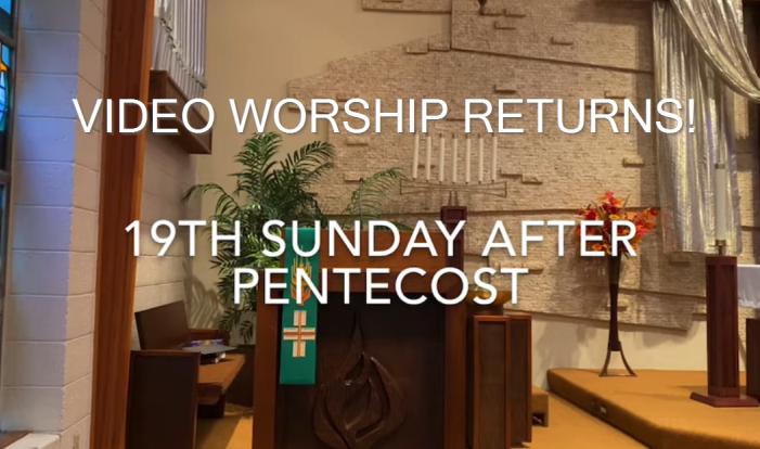 Video worship returns!