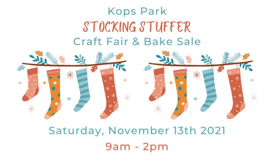 9th Annual Kops Park Stocking Stuffer Craft Fair & Bake Sale
